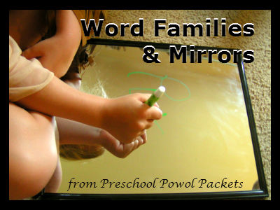 To Use Mirrors For Word Family Practice Write The Ending On Mirror With A Dry Erase Marker And Let Your Child Fill In Beginning Sound
