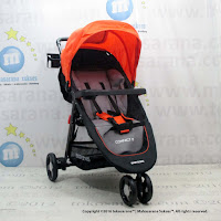 Kereta Bayi LightWeight BabyDoes CH703 Compact3 - Orange