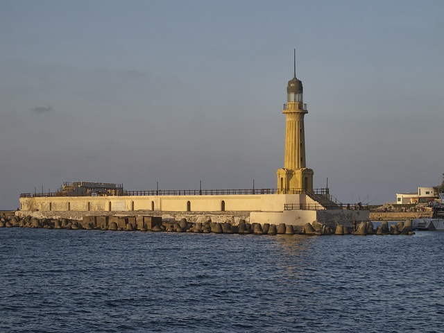Alexandria Montazah Beach lighthouse of Egypt Abandoned Lighthouse