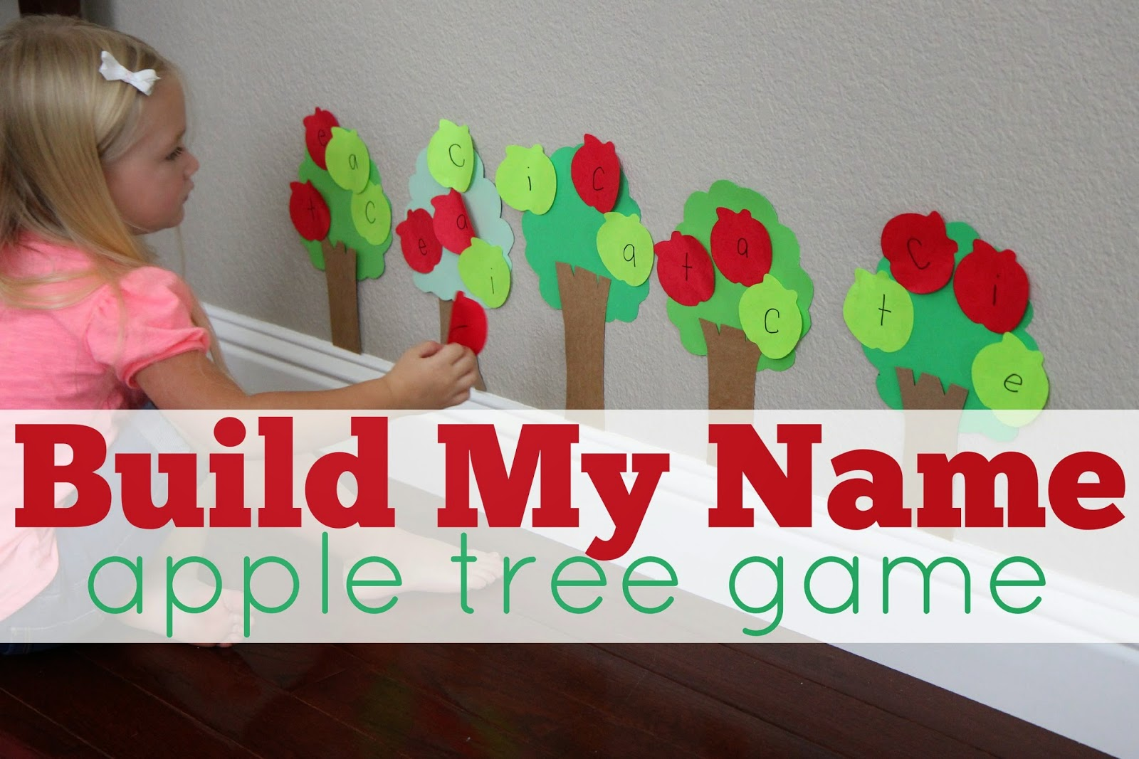 Toddler Approved Build My Name Apple Tree Game