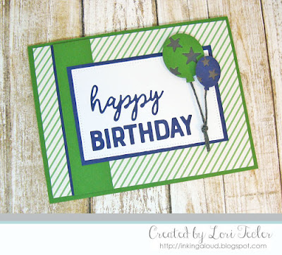 Birthday Balloons card-designed by Lori Tecler/Inking Aloud