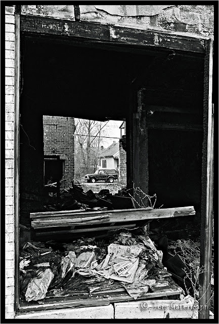 Urban Decay - A Window to the Past - Detroit, MI - Dec. 1992