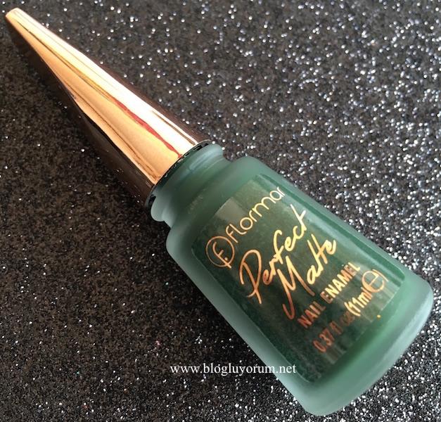 flormar perfect matte nail enamel 006 Moss