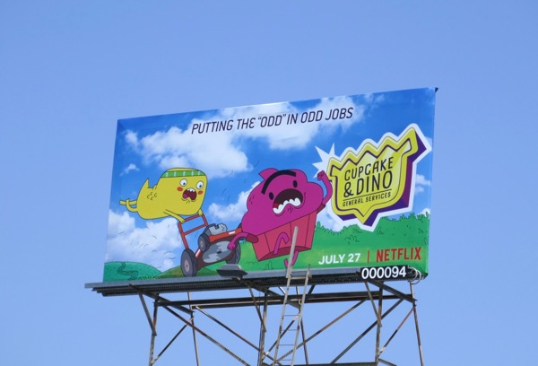Cupcake Dino General Services series premiere billboard