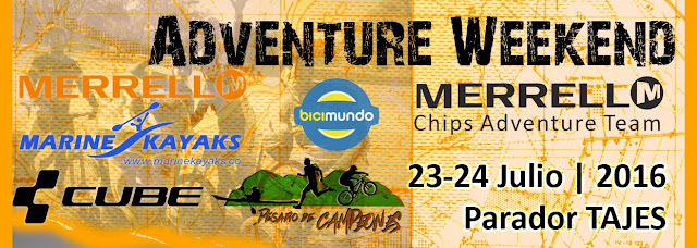 Adventure Weekend Merrell de Chips Adventure en parador Tajes (Canelones, 23y24/jul/2016)