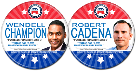 Wendell Champion and Robert M. Cadena are the Rep Candidates for U.S. Congress, District 18