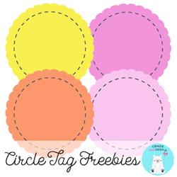 Free Circle Tags