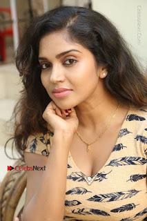Telugu Actress Karunya Chowdary Stills in Short Dress at ATM Not Working Press Meet  0142.jpg