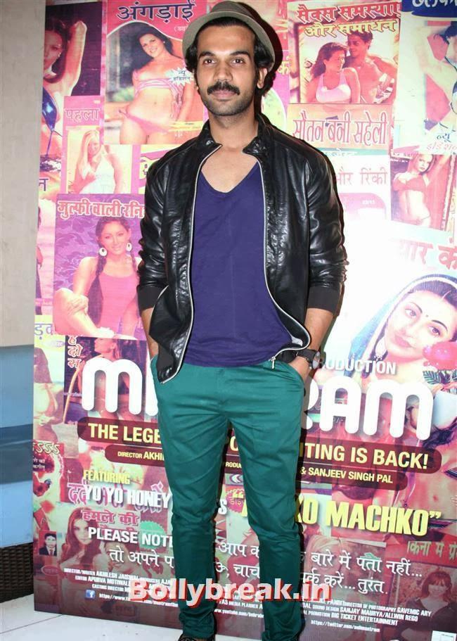 Rajkummar Rao, Tara Alisha Berry Pics from Mastram Movie First Look Launch