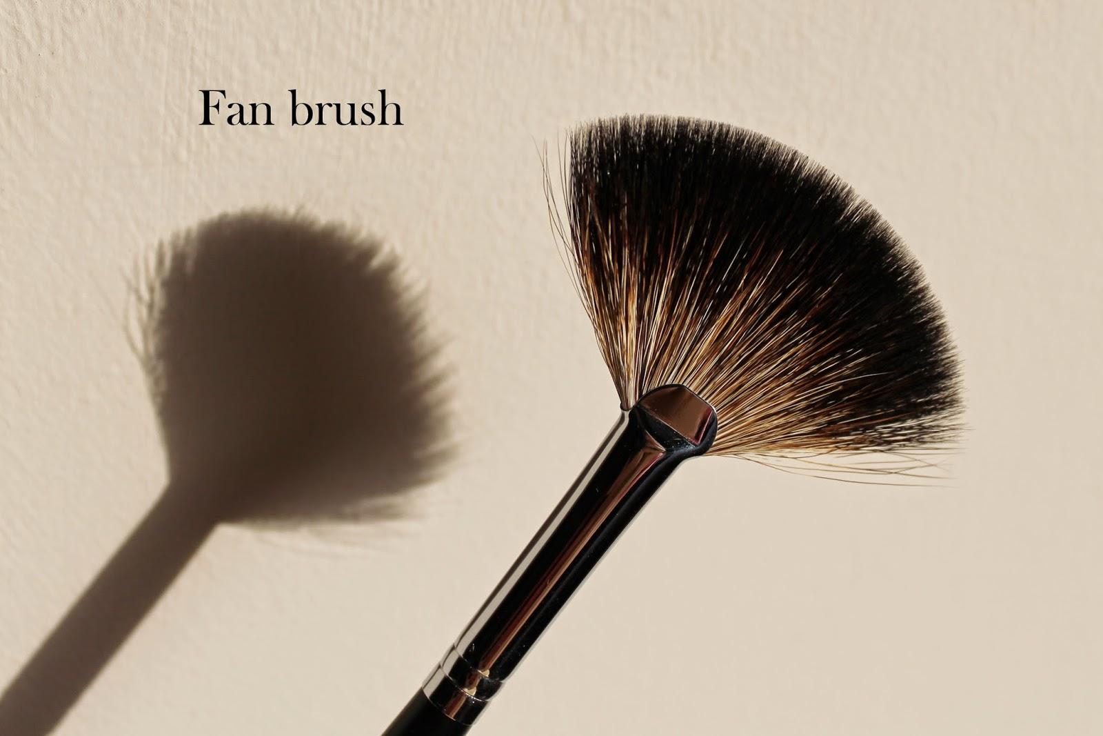 make up brush fan brush professional racoon