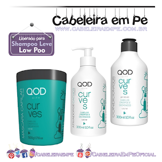 Curves - Qod City (Máscara, condicionador e Leave in Low Poo)
