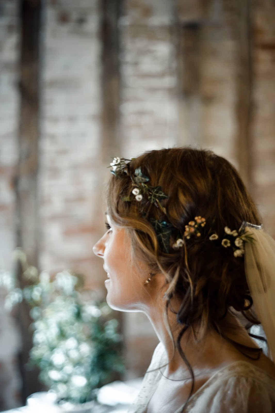 Handmade fresh floral wax flower coronet. Photo by John Pickup