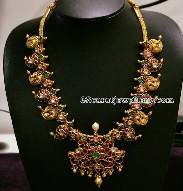 Nakash work Ruby Mango Necklace
