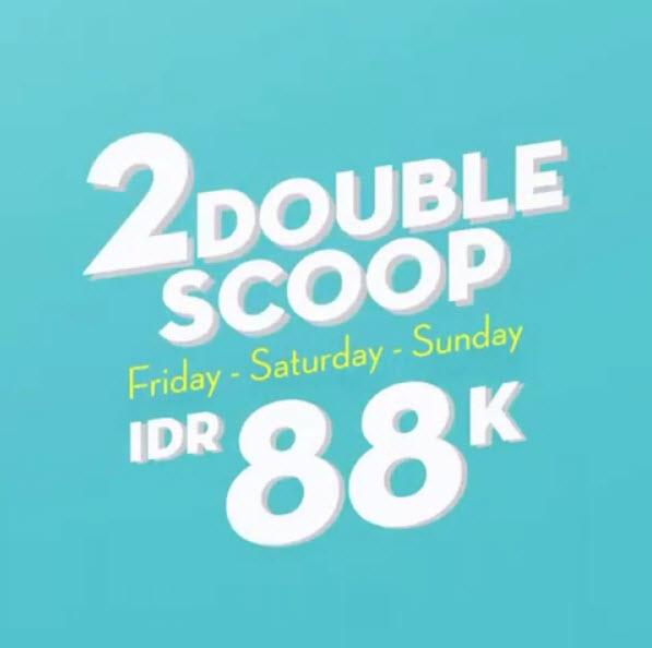 #BaskinRobbins - #Promo Weekend 2 Double Scoop Hanya 88K (s.d 07 April 2019)