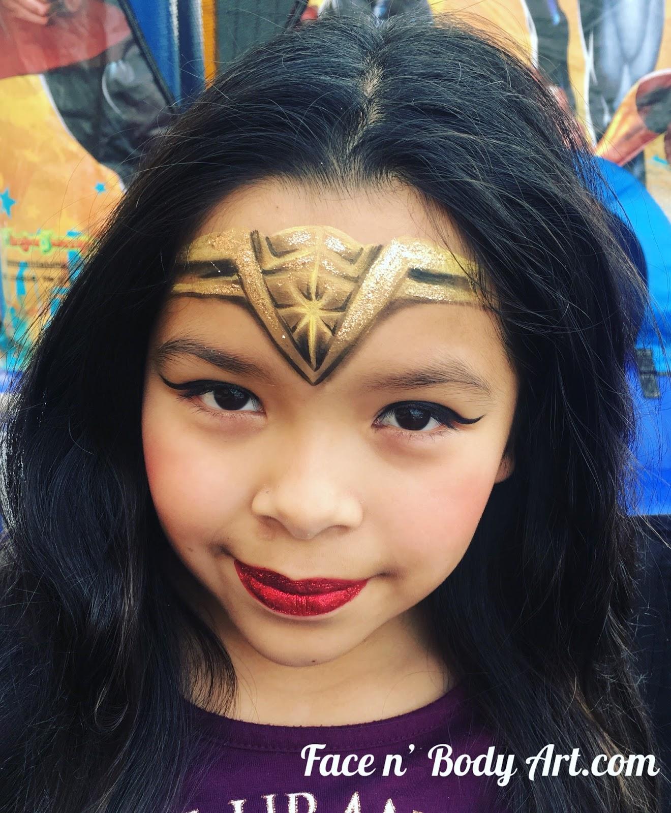 Shawna D Make Up Superhero Party Face Painting Makeup Monday