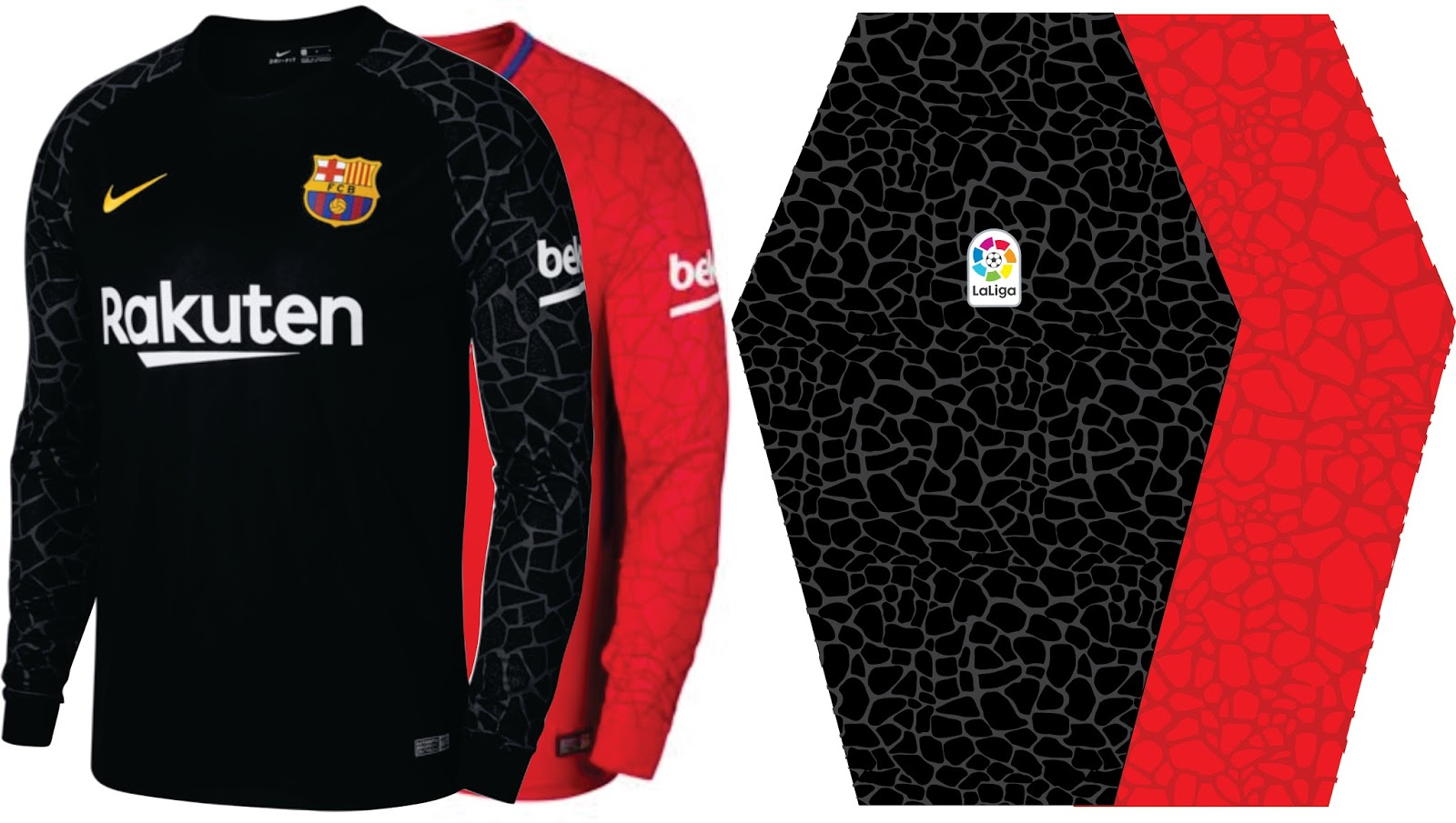 b5d860febb592 Grabal desing vector  Camiseta de portero FC Barcelona 2017-2018 ...
