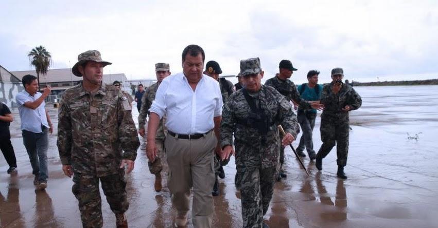 MINDEF supervisará hoy distribución de desayuno a damnificados en la zona de Carapongo , en Huachipa - Lima