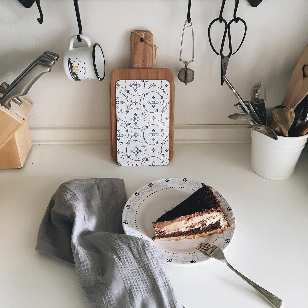 une part de gâteau au chocolat