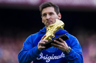 Messi win European Golden Shoes.