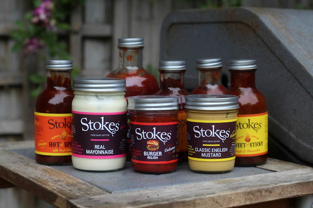 selection of stokes sauces by the BBQ