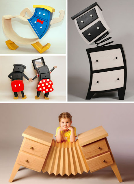 Diseño de muebles absurdos y con mucho sentido del humor