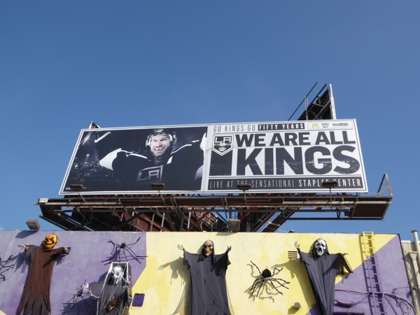 We are all Kings ice hockey billboard
