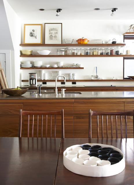 Contemporary Kitchen Open Shelving