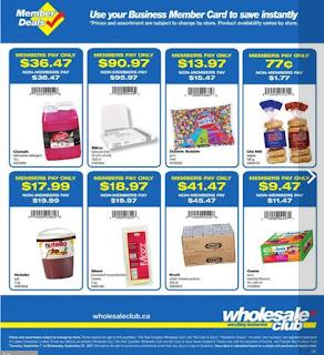 Wholesale Club Flyer September 7 - 27, 2017