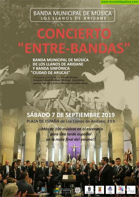 """La Plaza de España de Los Llanos de Aridane acoge este sábado el encuentro """"Entre-Bandas"""" con más de 100 músicos en el escenario"""