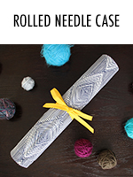 Keep your crochet hooks & knitting needles organized in this rolled needle case - tutorial here
