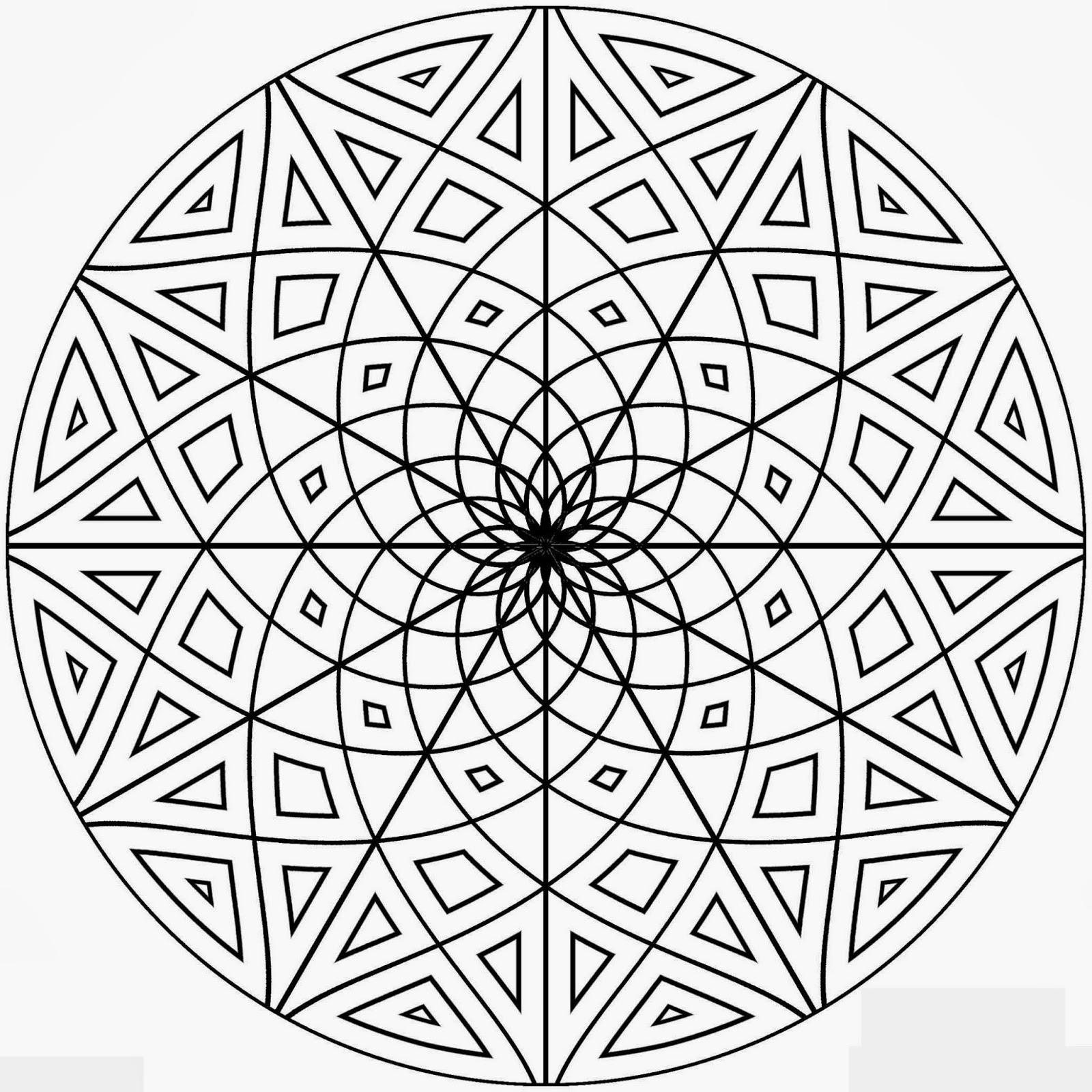 Desenhos De Formas Geométricas Para Colorir E Imprimir