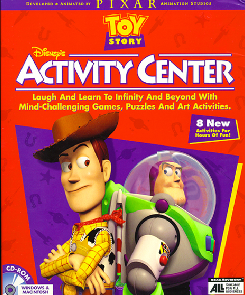 Toy Story Games Play Now : Dan the pixar fan toy story activity center cd rom game