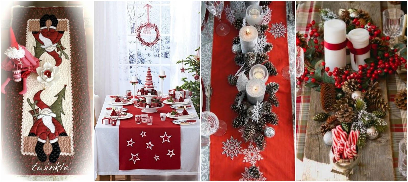 10 ideas espectaculares de caminos de mesa navide os - Ideas para hacer adornos navidenos ...