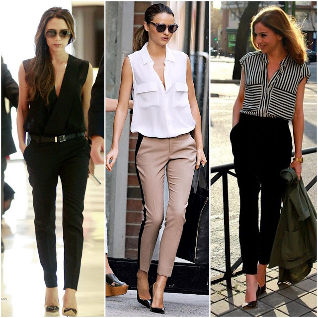 Sleeveless Blouse + Tapered Trouser