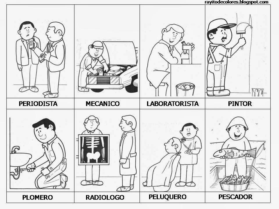 Maestra de primaria dibujos de oficios para colorear for Trabajo jardinero