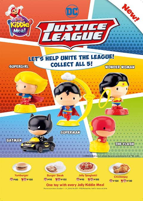 Help unite the league with Jolly Kiddie Meal's new DC Justice League collectibles
