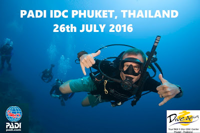Next PADI IDC on Phuket starts 26th July 2016