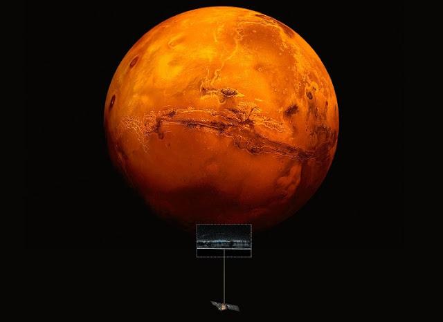 بحيرة مائية على سطح المريخ ، ورفع إمكانات الحياة الغريبة