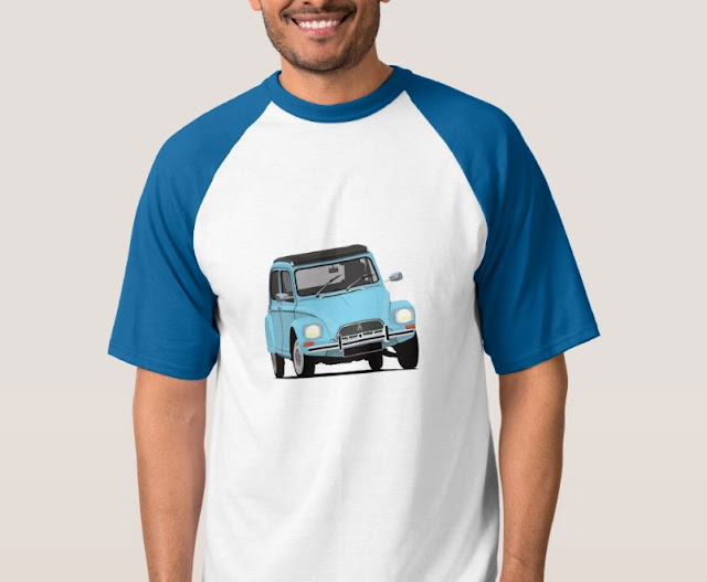 Customizable T-shirts - Citroen Dyane