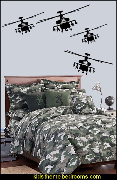 Military Helicopter Wall Decals  Camouflage bedding