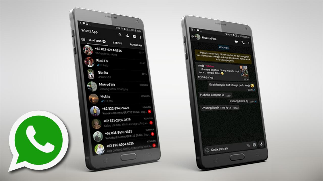 Download WhatsApp Black Style Terbaru