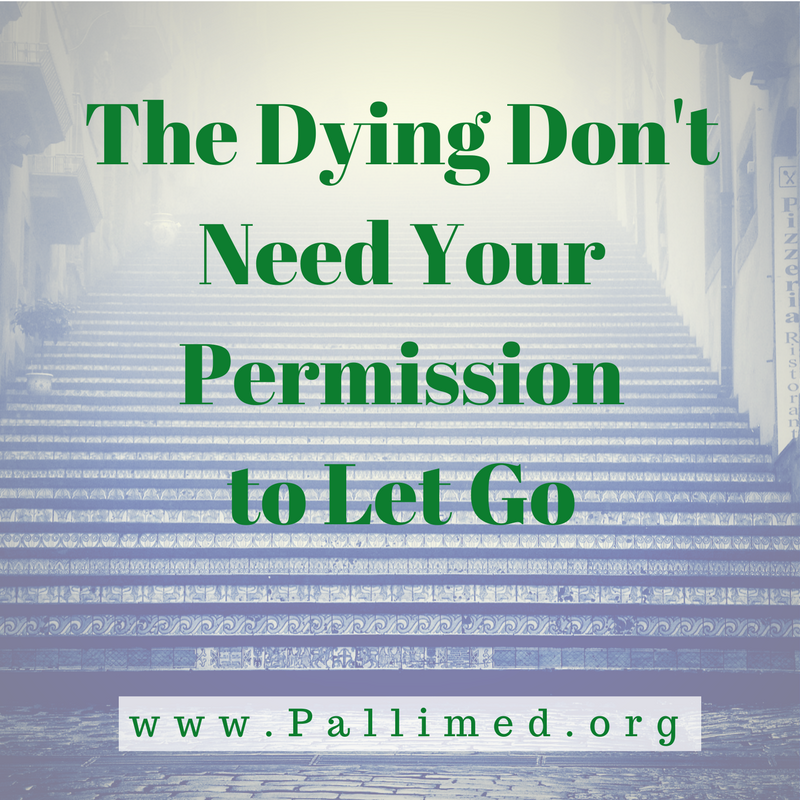 The Dying Don\'t Need Your Permission to Let Go ~ Pallimed