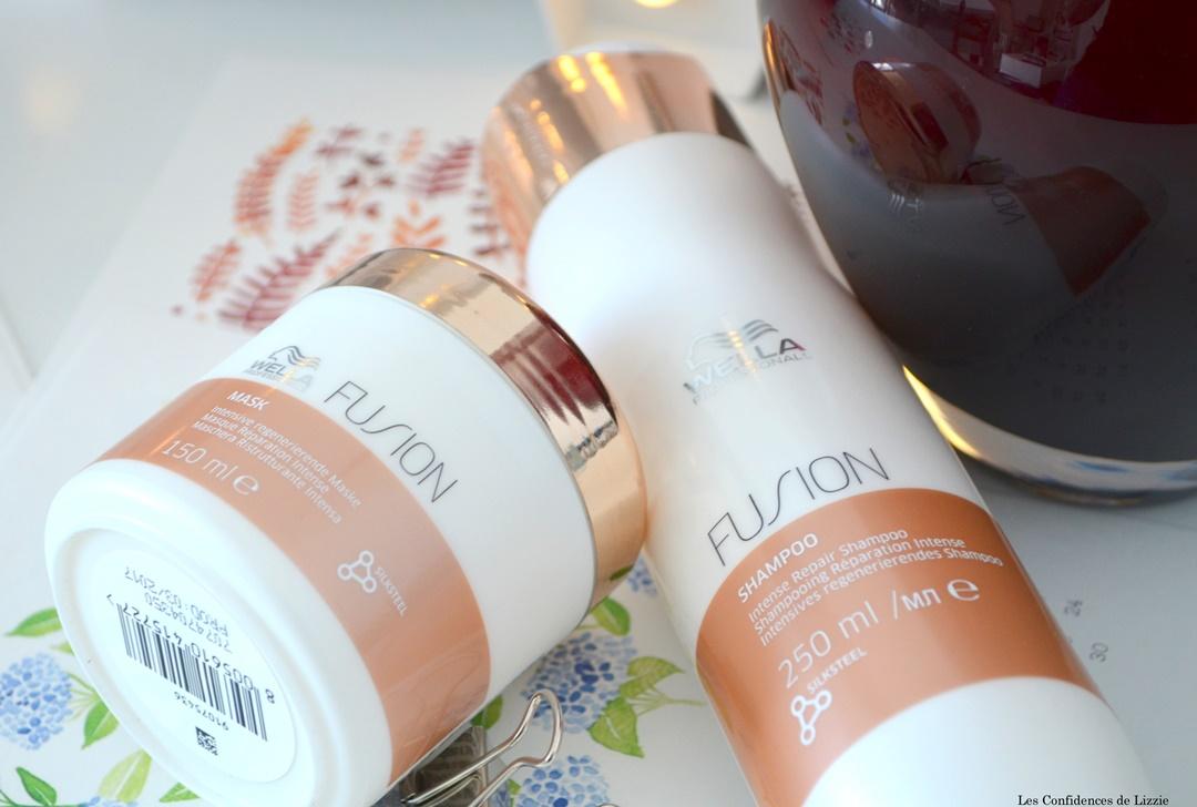 lutter contre les cheveux abimes - wella profesionals - marque allemande capillaire - soins capillaires - gamme fusion de wella - shampoing - masque capillaire
