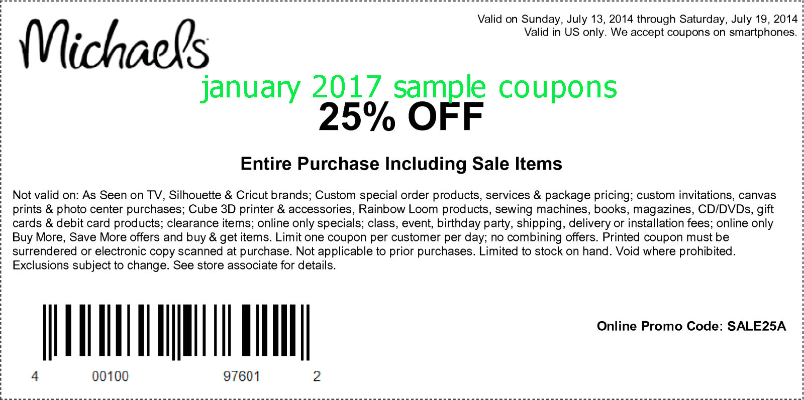 G code coupon code