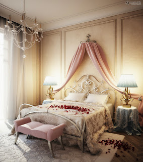 Collection of pictures of the latest Bridal room decoration Romantic Shades