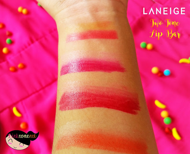 Laneige 2016 Two Tone Lip Bar Swatch pinknomenal.blogspot.com