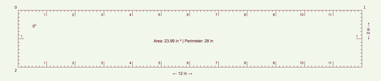 i measured the 10 inches of the ruler shown on the monitor (my monitor is too small to show all the 12 inches horizontally) with a ruler and it said cm so the size of the thing is perfect. bye PS: somebody tell me: GET A LIFE!
