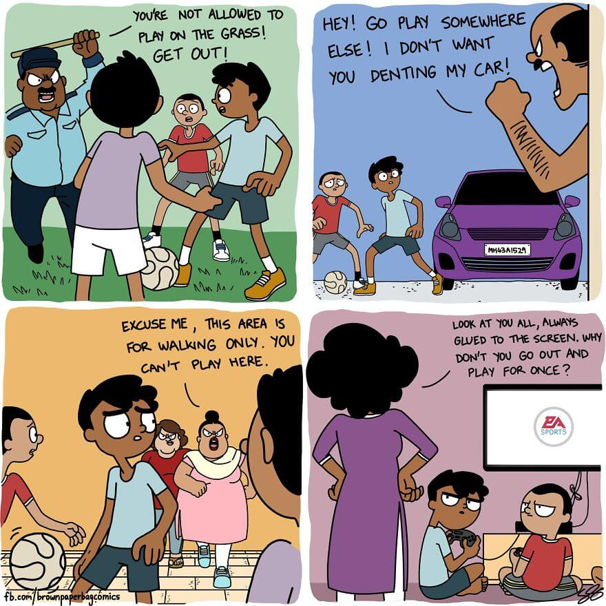 Indian Artist Illustrates Funny Aspects Of Living In An Indian Family