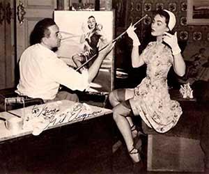 Gil Elvgren, el pintor más famoso de pin-ups