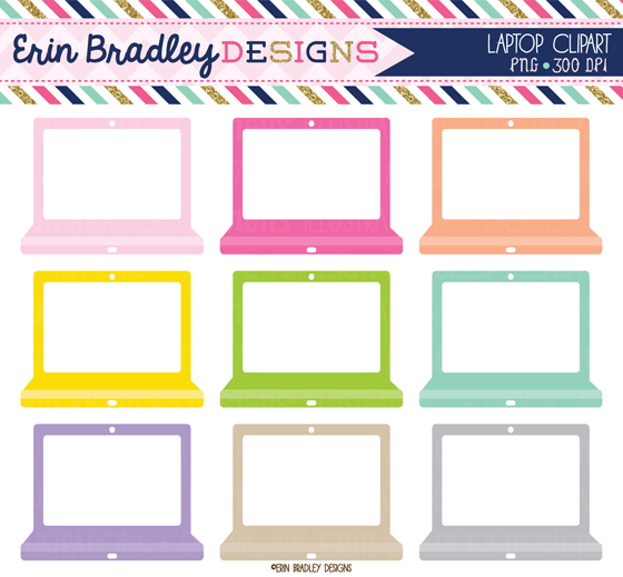 erin bradley designs new computer and laptop clipart